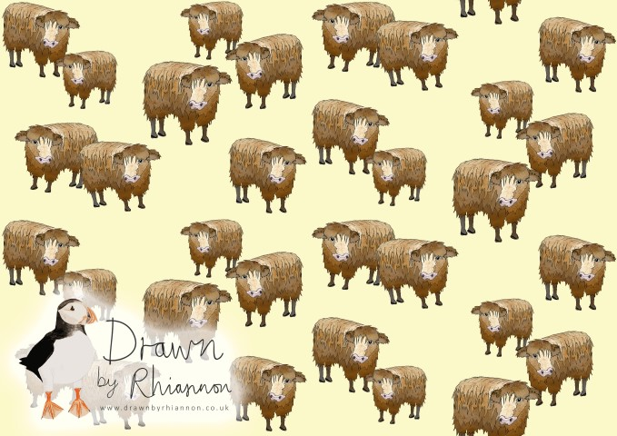 Cow print design with cream background