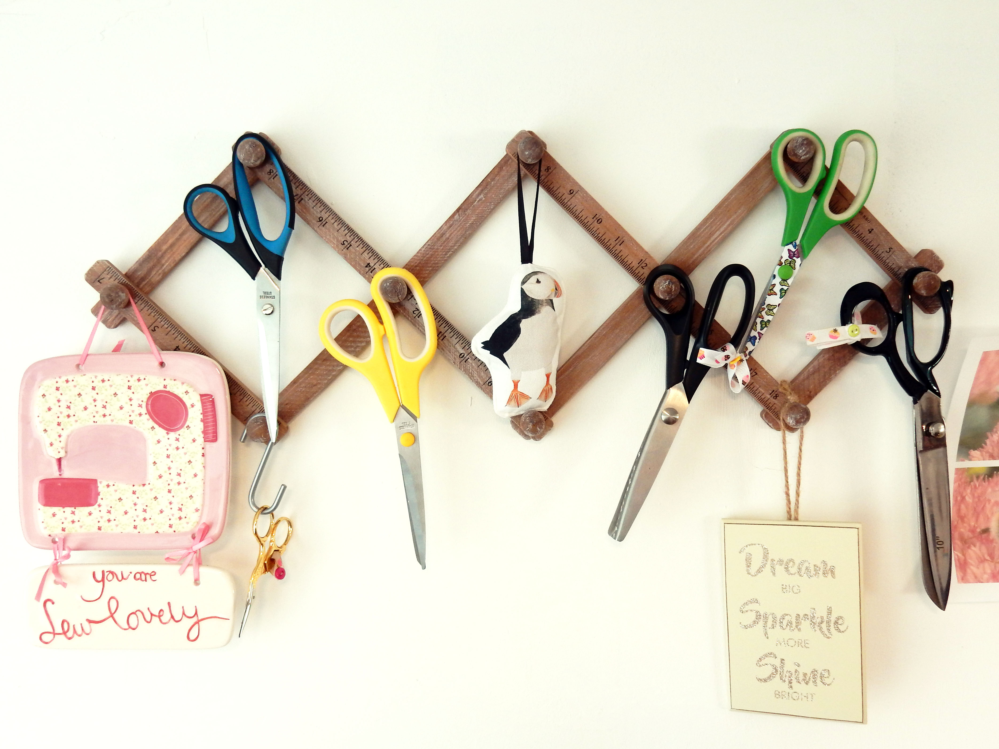 Drawn by Rhiannon sewing tools - scissors