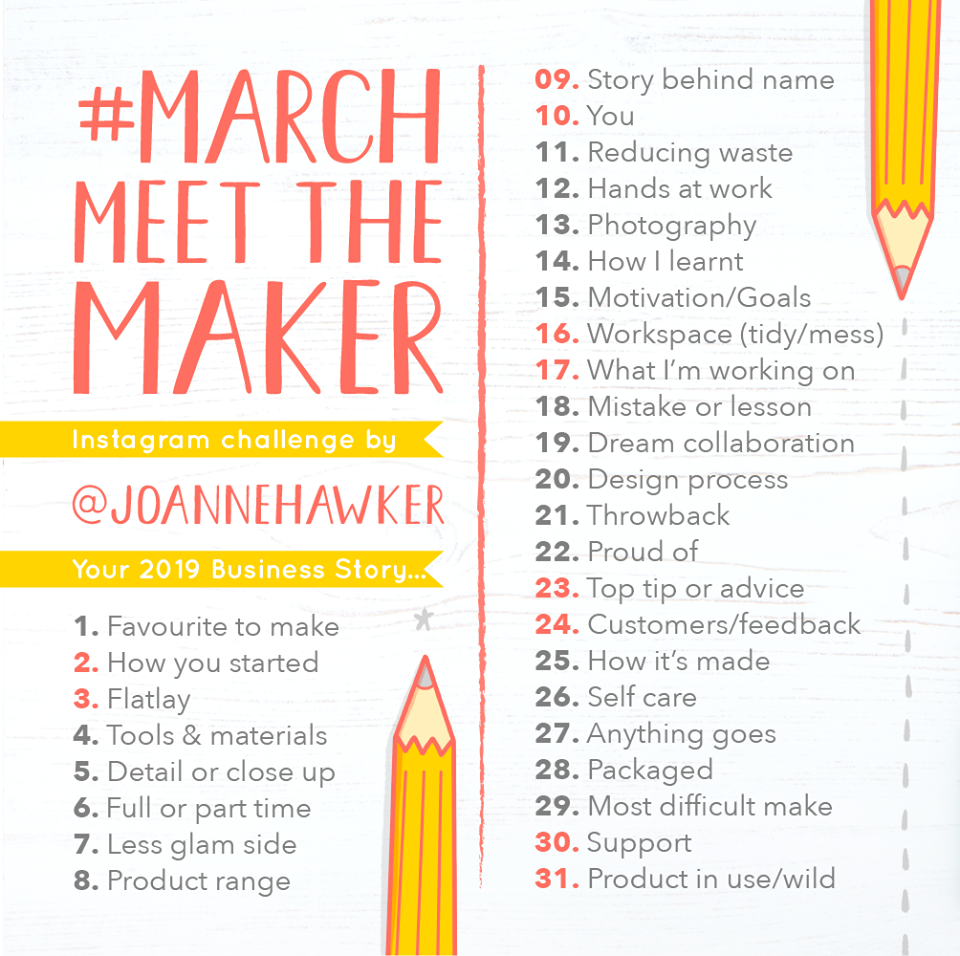 March Meet the Maker 2019 prompt list