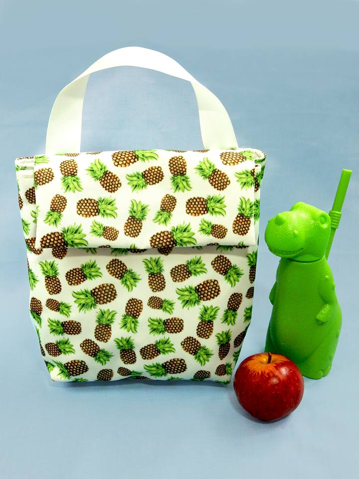 Drawn by Rhiannon pineapple insulated lunch bag